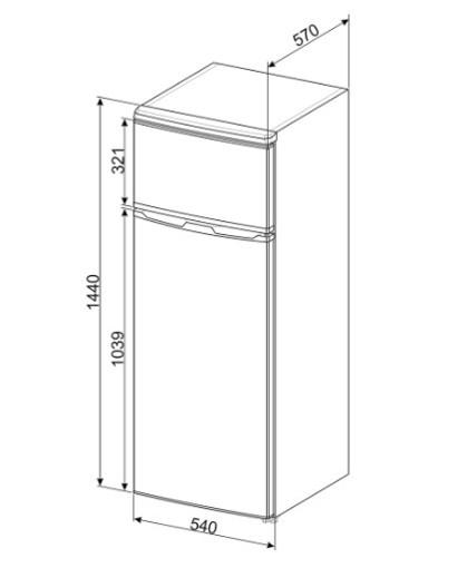 Smeg FD14FS frigorifero con congelatore Libera installazione 213 L F Argento
