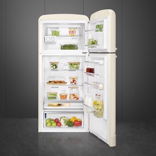 Smeg FAB50RCR5 frigorifero con congelatore Libera installazione 523,9 L E Crema