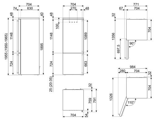 Smeg FA8005LAO5 frigorifero con congelatore Libera installazione 481 L E Antracite