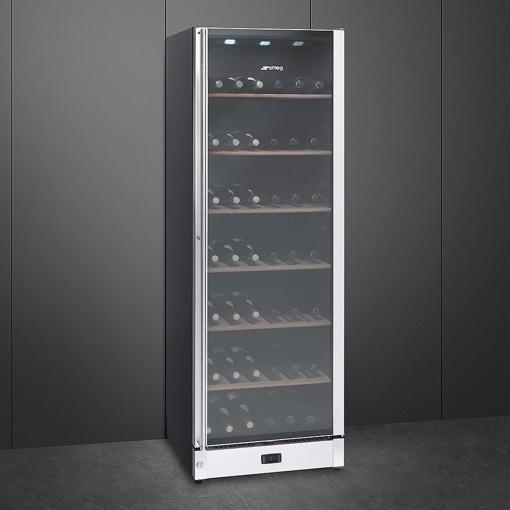 Smeg SCV115A cantina vino Cantinetta vino con compressore Libera installazione Nero 197 bottiglia/bottiglie