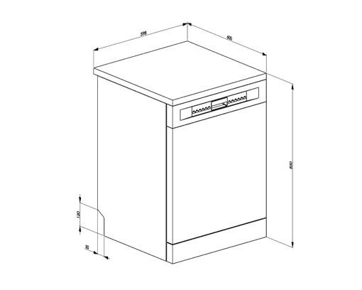 Smeg LVS322PXIN lavastoviglie Libera installazione 13 coperti E