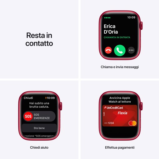 Apple Watch Series 7 GPS + Cellular, 45mm (PRODUCT)RED Cassa in Alluminio con Sport Band (PRODUCT)RED