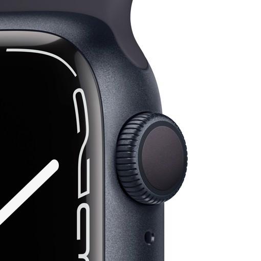 Apple Watch Series 7 GPS, 41mm Cassa in Alluminio Mezzanotte con Cinturino Sport Mezzanotte