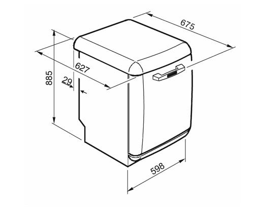 Smeg LVFABCR2 lavastoviglie Libera installazione 13 coperti D