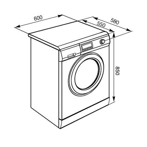 Smeg LSF147E lavasciuga Libera installazione Caricamento frontale Bianco E