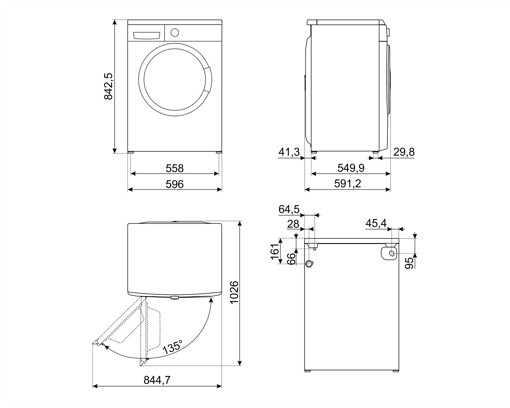Smeg LB1T80IT lavatrice Caricamento frontale 8 kg 1000 Giri/min D Bianco
