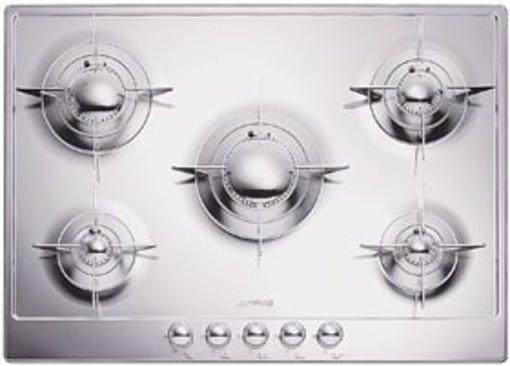 Smeg P705ES piano cottura Acciaio inossidabile Da incasso Gas 5 Fornello(i)