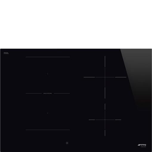 Smeg Universal SI1M4744D piano cottura Nero Da incasso 75 cm Piano cottura a induzione 4 Fornello(i)