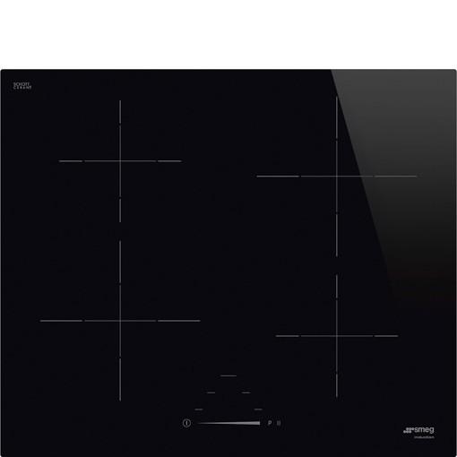 Smeg Universal SI4642D piano cottura Nero Da incasso 60 cm Piano cottura a induzione 4 Fornello(i)