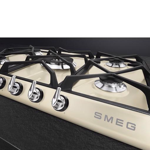Smeg Victoria SR975PGH piano cottura Crema Da incasso 68.5 cm Gas 5 Fornello(i)