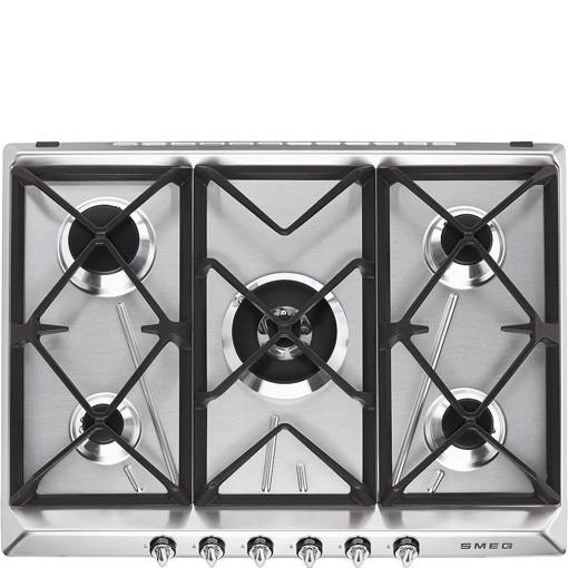 Smeg Victoria SR975XGH piano cottura Acciaio inossidabile Da incasso 68.5 cm Gas 5 Fornello(i)